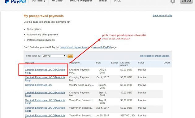 Cara Menghilangkan Auto Subscription / Autopay / Pembayaran Otomatis Pada Paypal Dengan Mudah