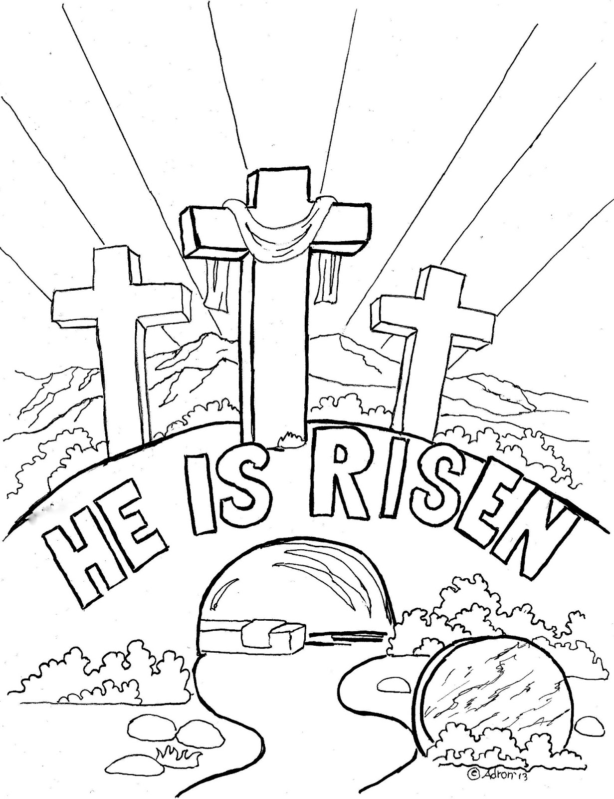 Coloring Pages for Kids by Mr. Adron: Easter Coloring Page