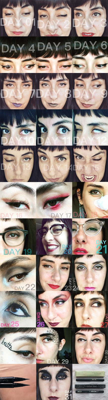 31 Days of Liquid Eyeliner :: Results!