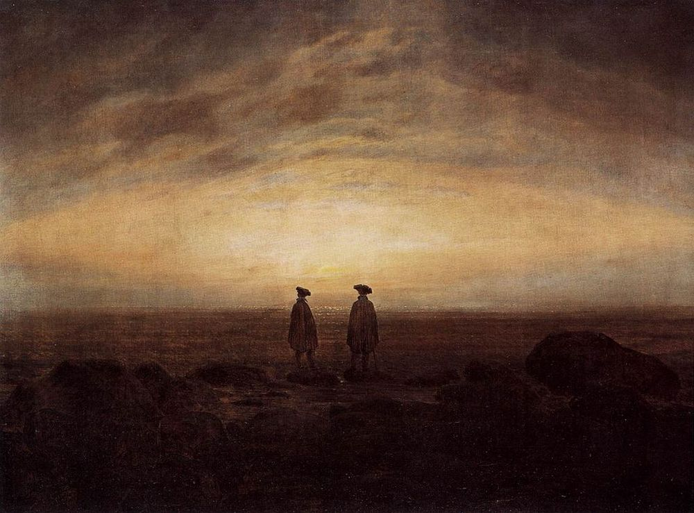 """Two Men by the Sea"" (1817) by Caspar David Friedrich"