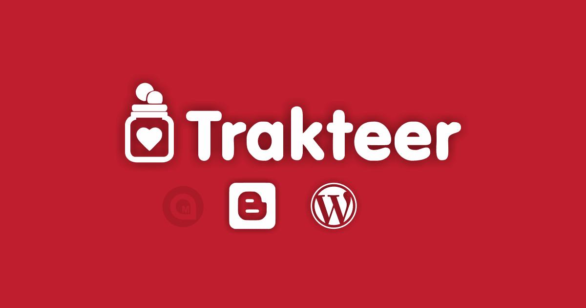 Tutorial Membuat Widget Trakteer di Blogger Wordpress - mantankode