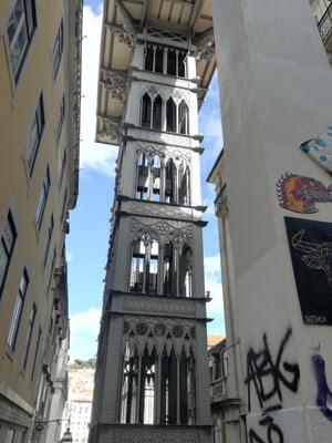 Elevador de Santa Justa en Lisboa. Foto de Teresa Rey.