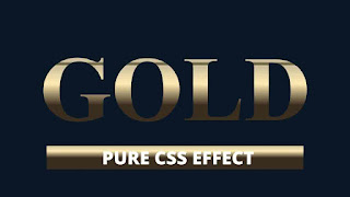CSS Gold Gradient Text Effect