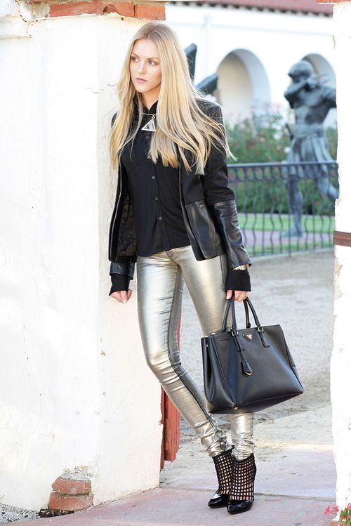 HOW TO WEAR METALLIC JEANS