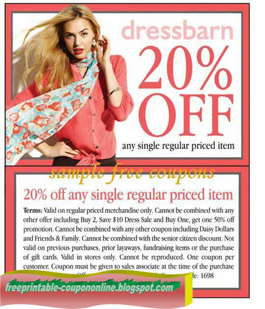 dress barn store coupons printable