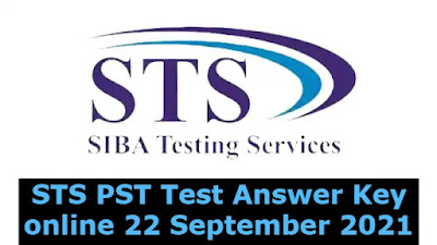 STS PST Test Answer Key online 22 September 2021