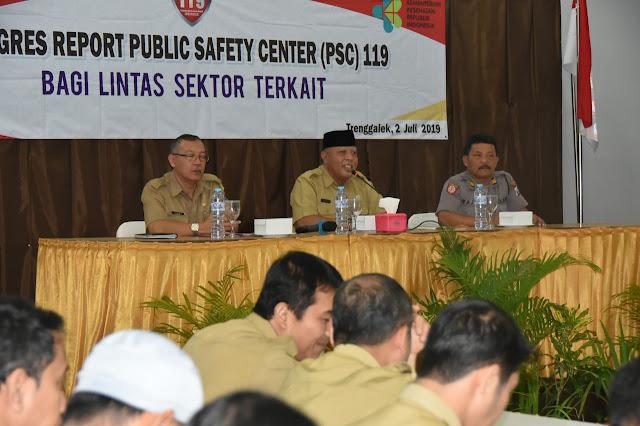 Lakukan Evaluasi, Asisten I Sekda Berharap Layanan  Penanganan Kedaruratan Public Safety Center (PSC) 119 Semakin Baik