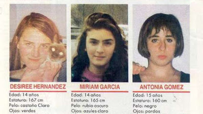 Miriam , Toñi , Desirée ,Alcásser ,Alcácer , crimen , Antonio Anglés