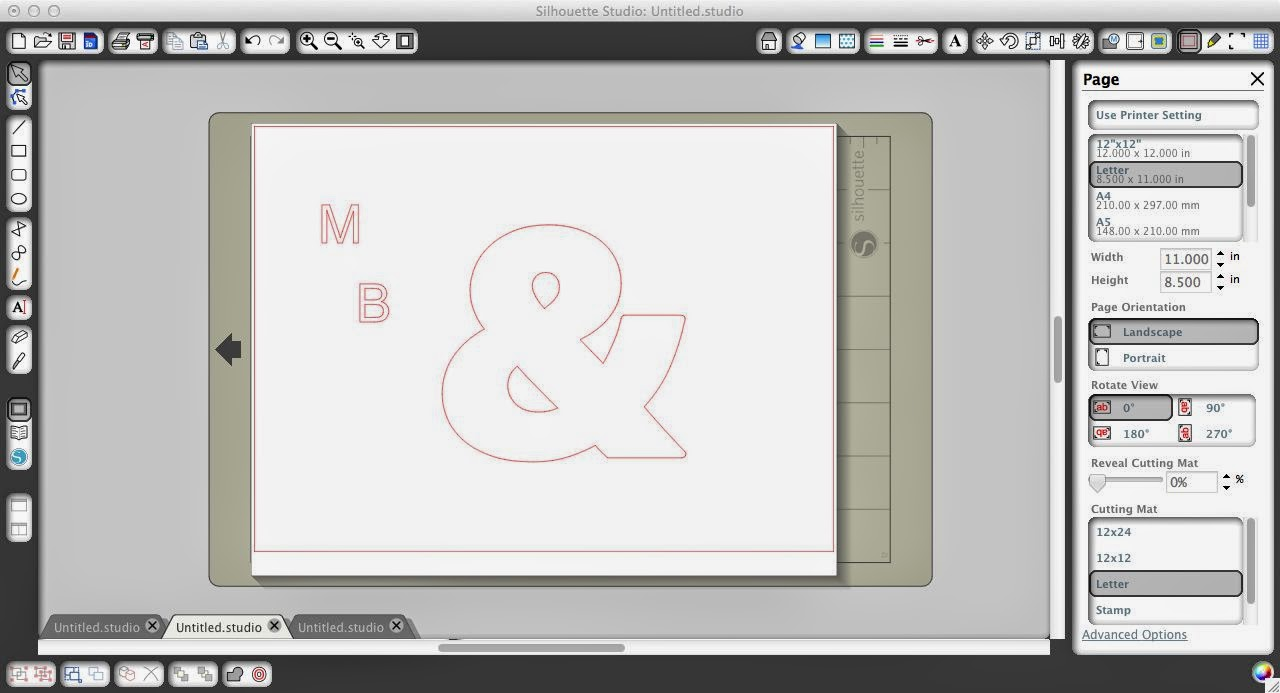 Subtract, subtract all, Silhouette tutorial, Silhouette Studio, ampersand