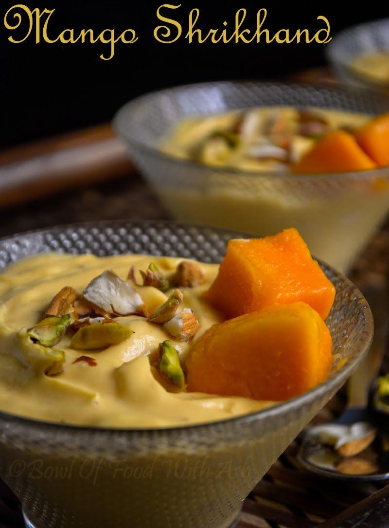 Mango Shrikhand Recipe | How To Make Amrakhand