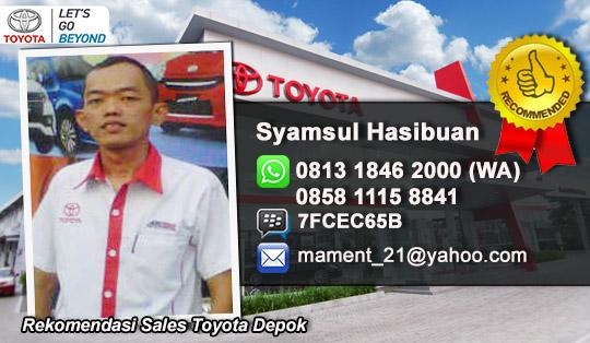 Rekomendasi Sales Dealer Toyota Depok Jawa Barat
