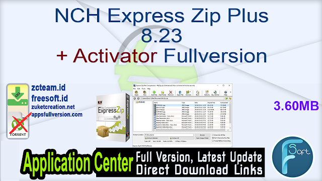NCH Express Zip Plus 8.23 + Activator Fullversion