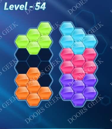 Block! Hexa Puzzle [6 Mania] Level 54 Solution, Cheats, Walkthrough for android, iphone, ipad, ipod