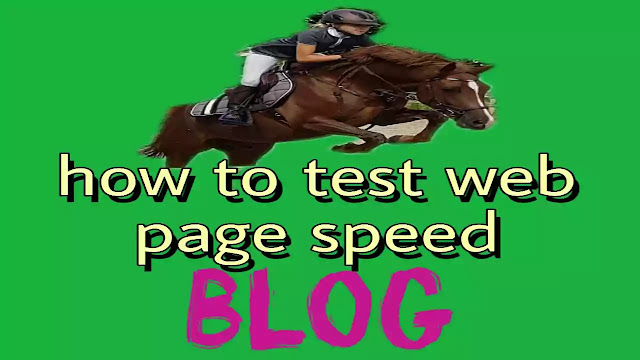 how to test web page speed