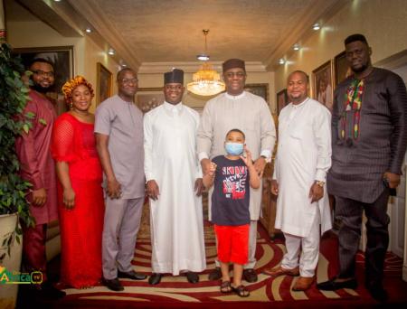 Photos: Femi Fani-Kayode hosts Yahaya Bello at Home in Abuja