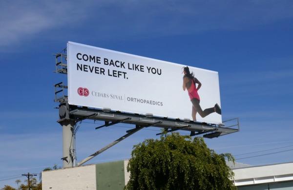 Cedars Sinai Orthopaedics billboard