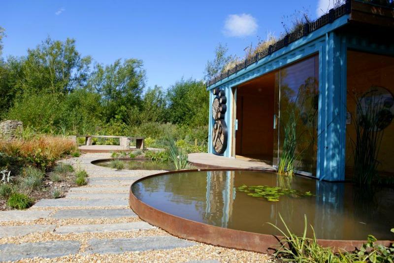 Jardín rhs chelsea 2011 Nigel Dunnett trasladado a Slimbridge Wetland Centre |  Foto SWC