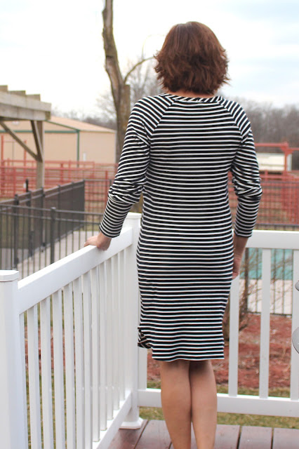 Butterick 6207 in Mood Fabrics' Stripe knit