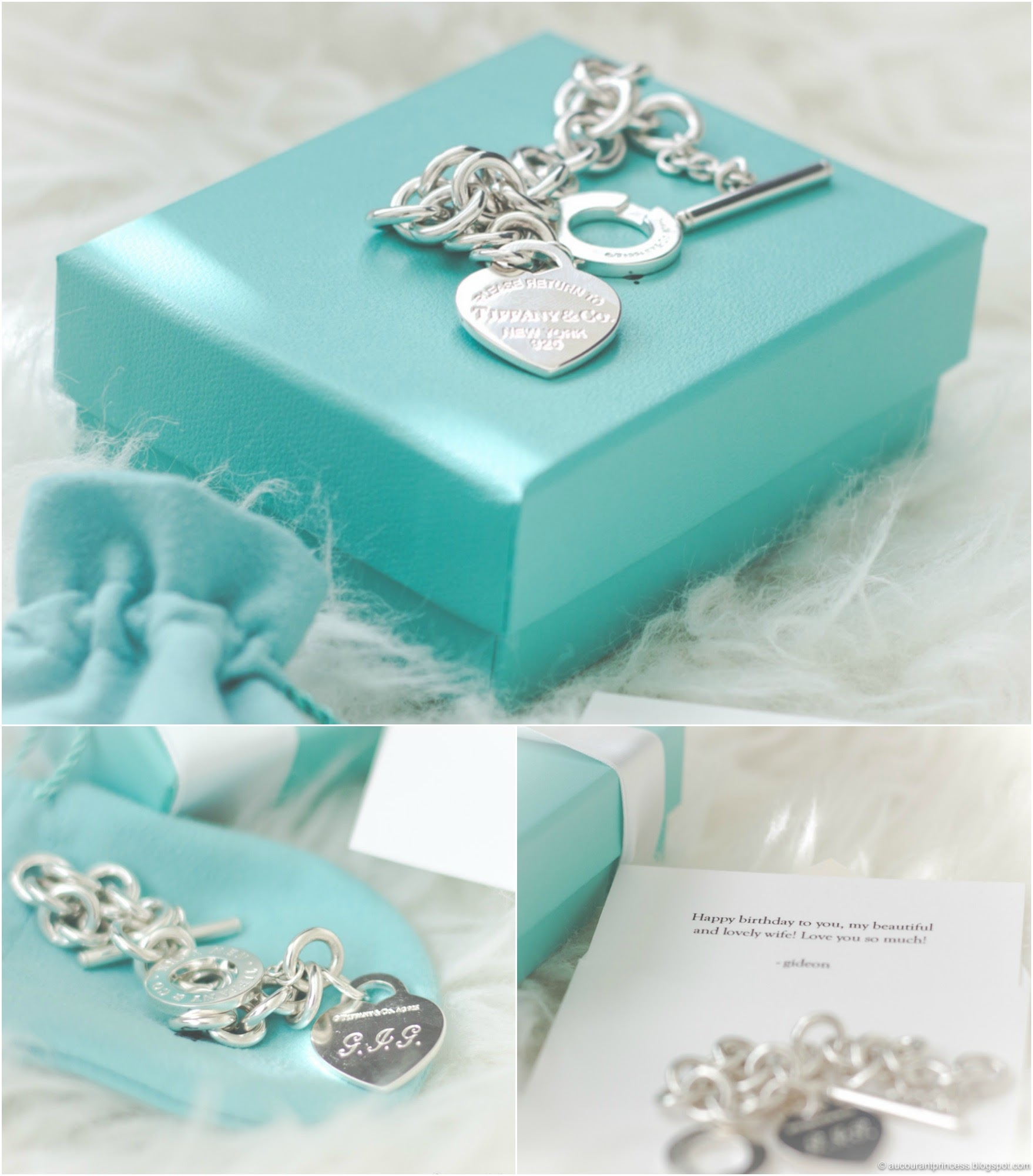 Tiffany & Co Bracelet with Personalized Hand Engraved Monograms