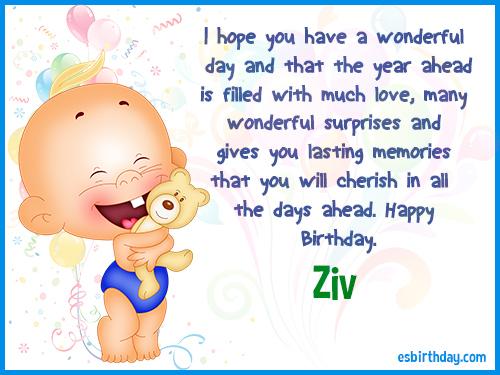 Ziv Happy Birthday