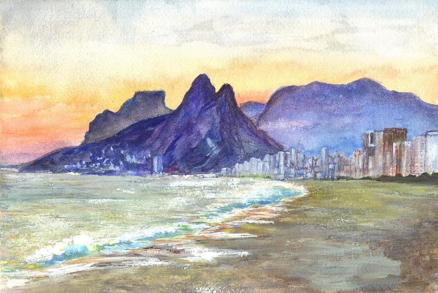 Рисунок пляжа Ипанема