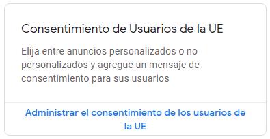 Administrar el consentimiento de los usuarios