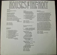 Official Lyrics Houses Of The Holy Album