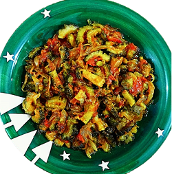 Nutritious and delicious vegetable recipe of bitter gourd during the rainy season.