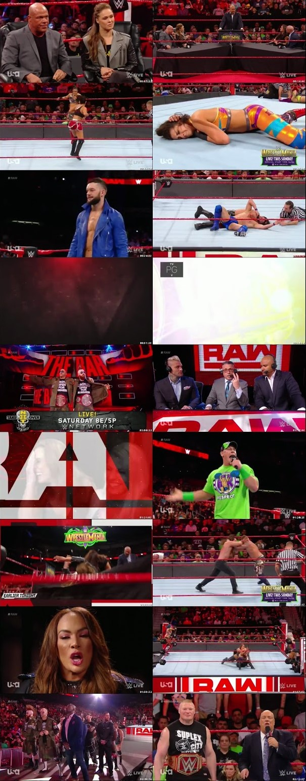 WWE Monday Night Raw 02 April 2018 480p 550MB HDTVRip, WWE Monday Night RAW 02 April 2018 HDTV 480p 550MB x264