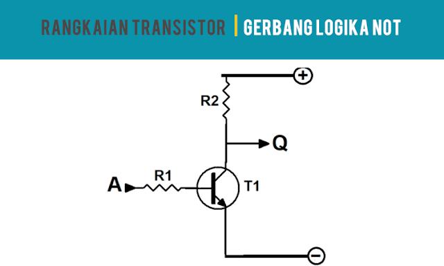 Rangkaian Transistor Gerbang Logikal NOT