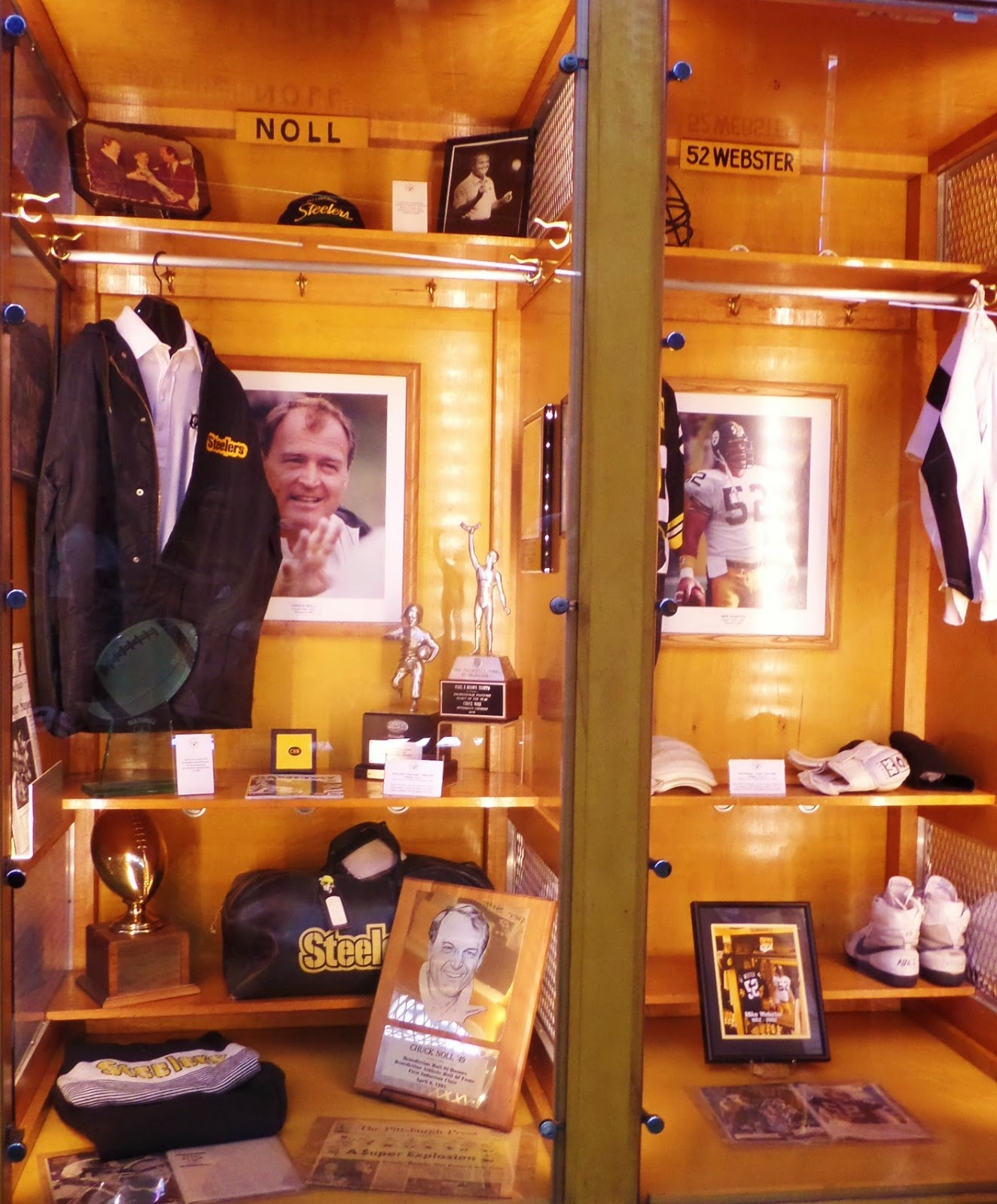 Chuck Noll and Mike Webster Hall Of Fame Heinz Field