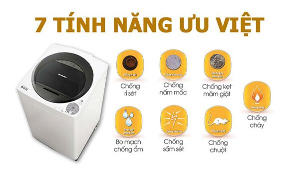 Máy giặt Sharp ES-U72GV-G