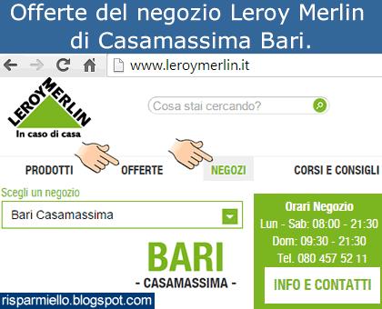 Risparmiello leroy merlin bari casamassima offerte volantino for Interruttore orario leroy merlin