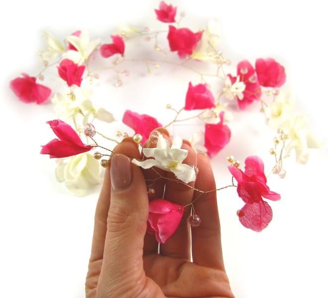 Ślubny wianek z magnolii.