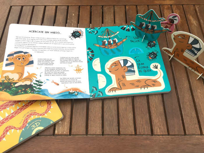 Libro El mundo del antiguo Egipto y Vikingos, con figuras y modelos en 3D