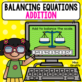 Balancing equations first grade level for addition to 10 - perfect and easy practice to understand what the equal sign means