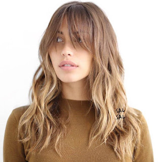 long hairstyles with bangs for thin hair
