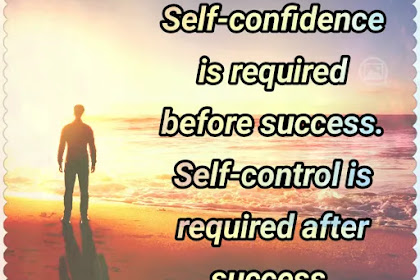 Self Confidence and Self Control Quote