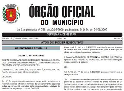 Decreto 1.572/2020 permite reabertura dos shoppings em Maringá. Café com Jornalista