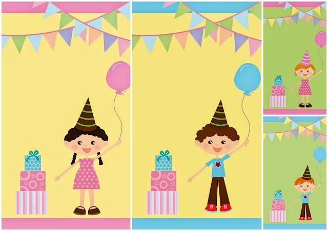 Invitaciones para Fiesta de Cumpleaños de Niños para Imprimir Gratis.
