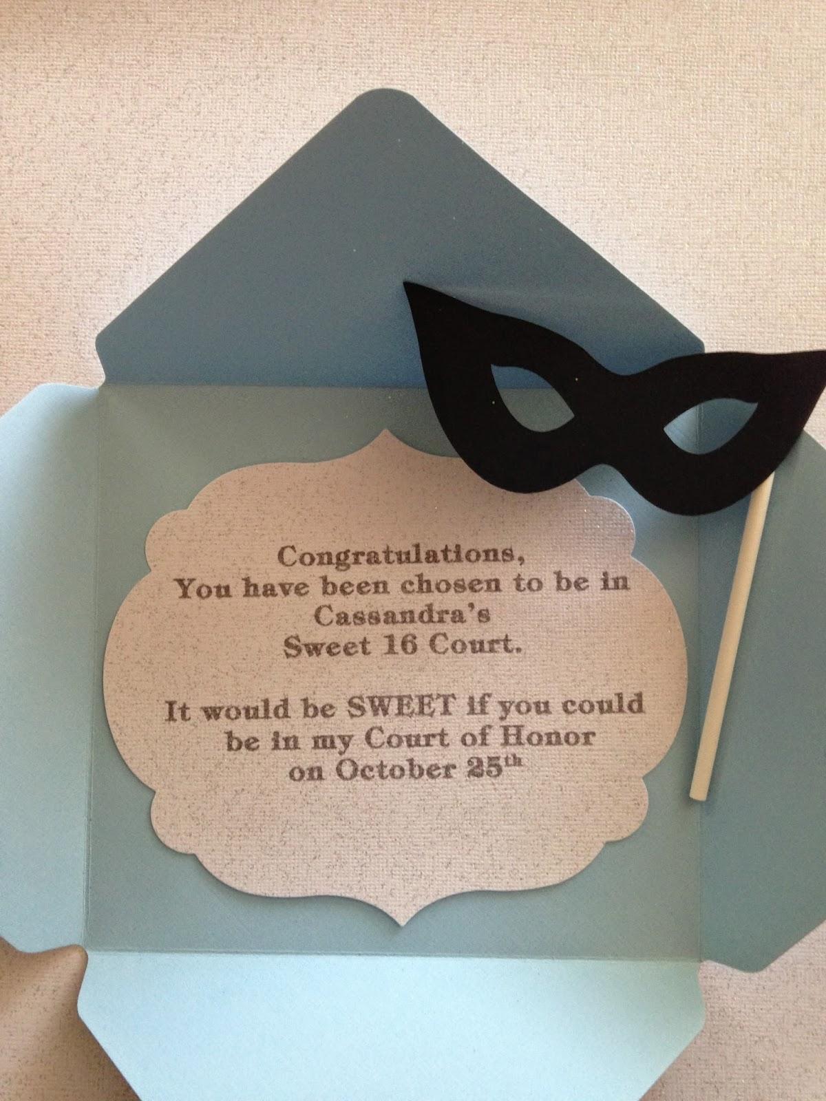 Masquerade Invitations For Sweet 16 Sasolo Annafora Co