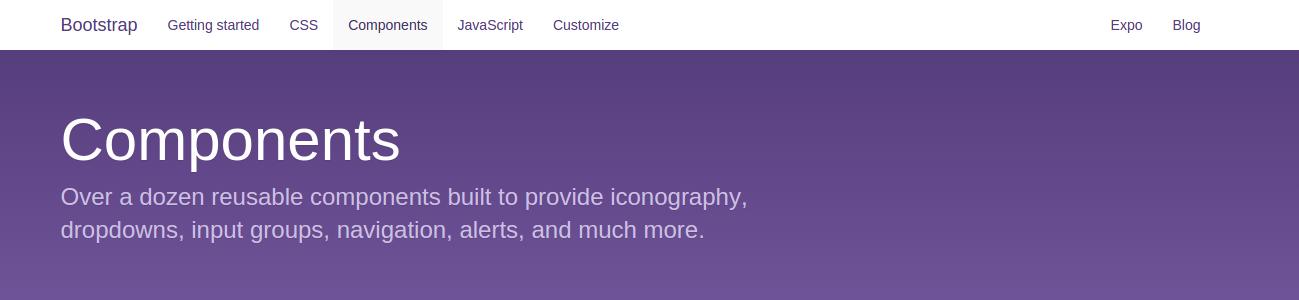 Bootstrap - Giới thiệu về Components thành phần được xây dựng sẵn trong Twitter Bootstrap