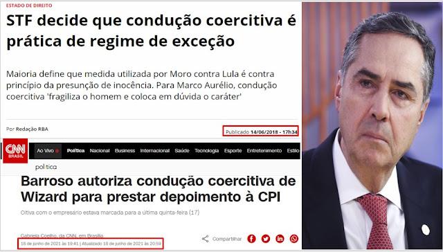 BOMBA!! Molecagem Suprema - Plenário do STF decide que o Luladrão NÃO PODE ser conduzido coercitivamente - mas Barroso determina que um cidadão do bem seja