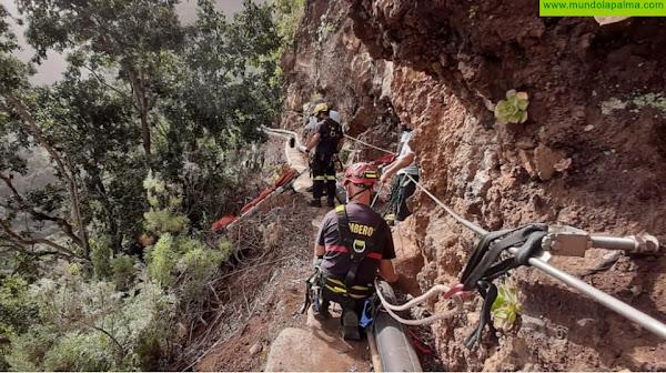 Rescatado el operario de un canal ayer en Los Tilos