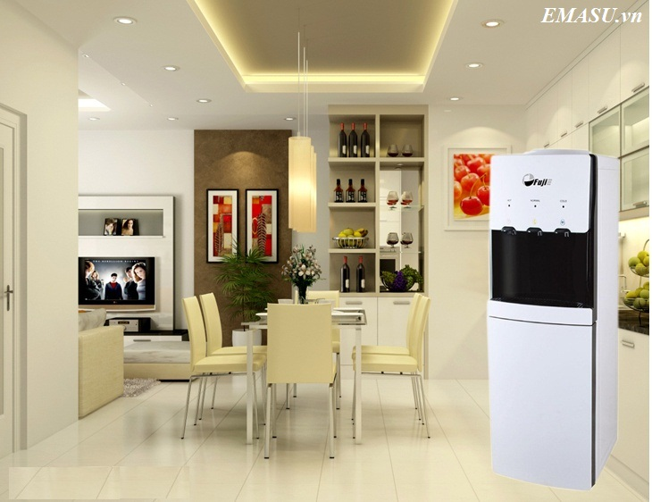 Cây nước nóng lạnh Fujie WDBD20E thiết kế 3 vòi Nóng - Lạnh - Ấm, Khóa vòi Nóng an toàn cho người già và trẻ nhỏ