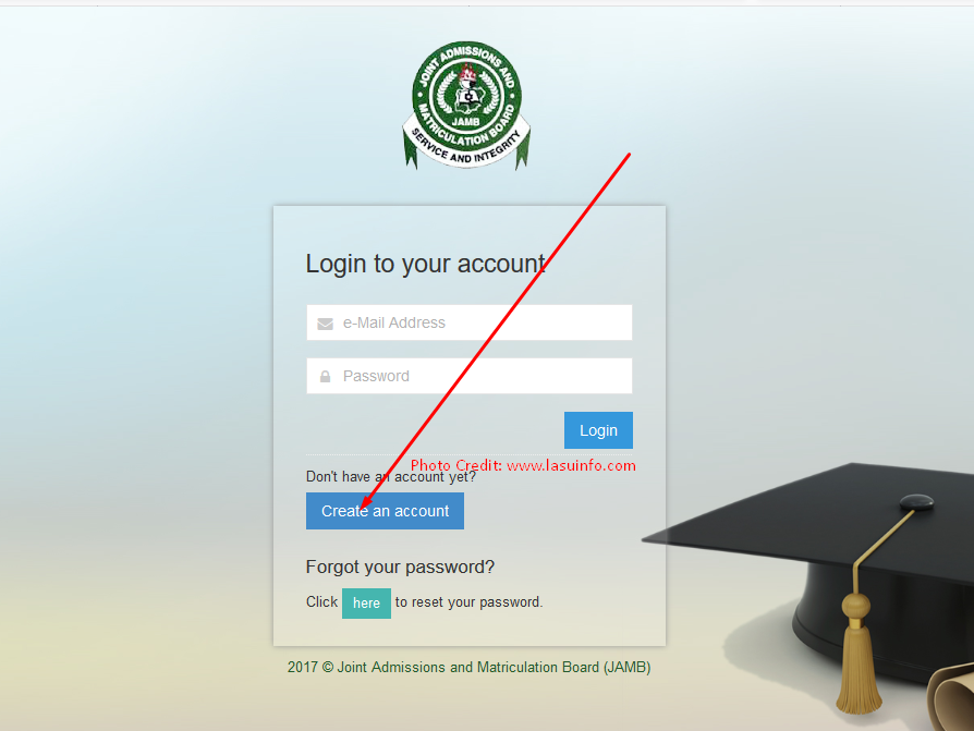 JAMB Profile: Create Account, Profile Code / Password Recovery Guidelines