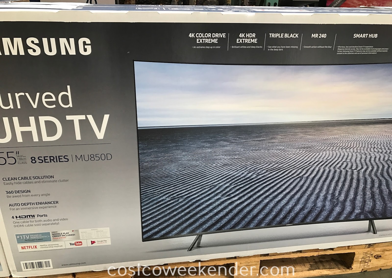 Costco 9558500 - Samsung UN55MU850D Curved 4K Ultra HD tv: a wole new viewing experience