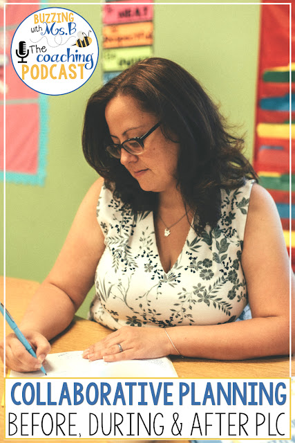 Facilitating a collaborative planning session can be overwhelming if you don't have a system or routine in place. This Buzzing with Ms. B: The Coaching Podcast provides steps to follow before, during, and after a planning PLC to make sure instructional coaches are preparing their teachers for success in planning together! Learn about howwe built a common language and strategies together, and get a free download for building content knowledge at the beginning of a planning PLC.
