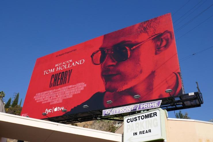Tom Holland Cherry film billboard