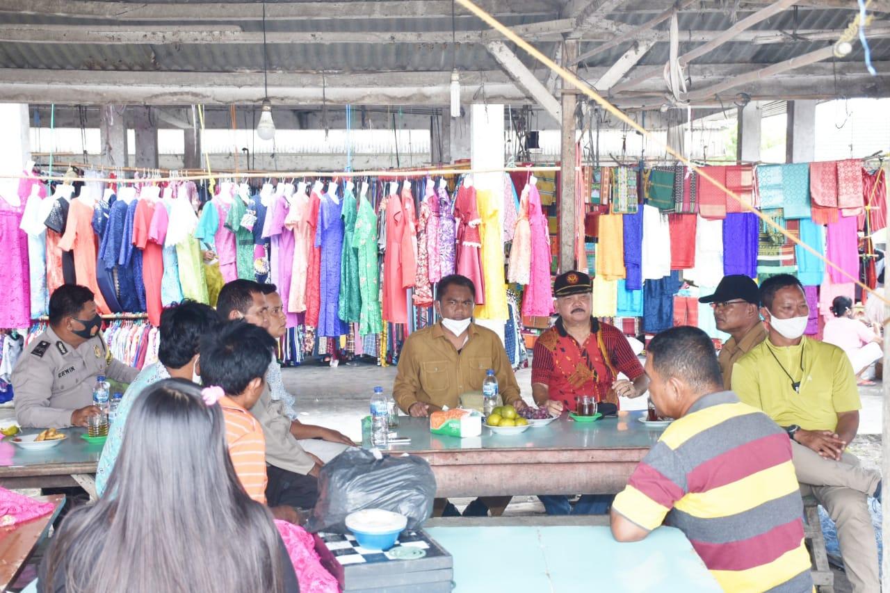 Serap Aspirasi Pedagang, Wabup Sergai Tinjau Pasar Tradisional di Dusun II Desa Pon